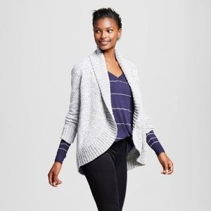 A New Day Heather Chenille Ribbed Hem Cardigan